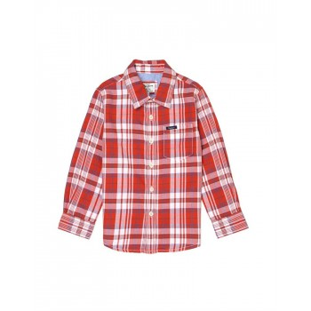 Pepe Jeans Boys Checkered Red Shirt