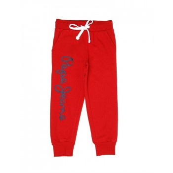 Pepe Jeans Boys Printed Red Track Pants