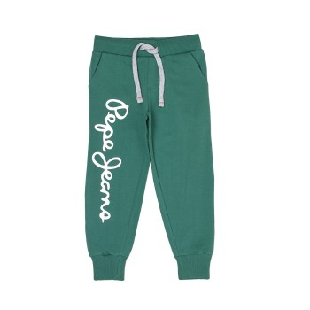 Pepe Jeans Boys Printed Green Track Pants