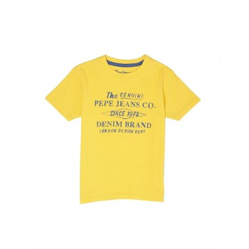 Pepe Jeans Boys Printed Yellow T-Shirt