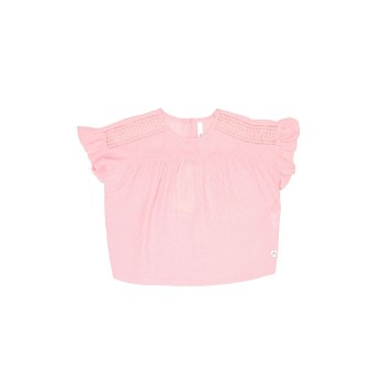 Pepe Jeans Girls Self Design Pink Top