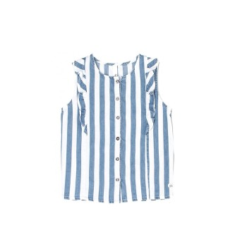 Pepe Jeans Girls Striped Blue Top