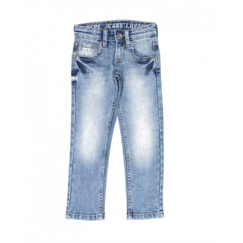Pepe Jeans Boys Solid Blue Jeans