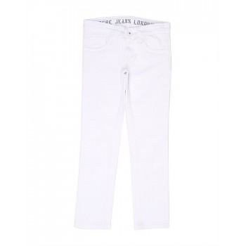 Pepe Jeans Boys Solid White Jeans
