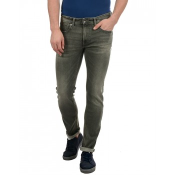Pepe Jeans Men Casual Wear Green Jeans