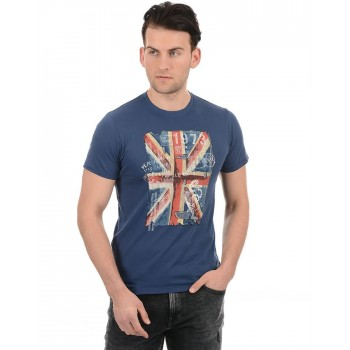 Pepe Jeans Men Casual Wear Blue T-Shirt