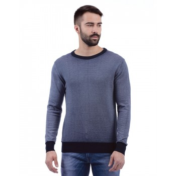 Pepe Jeans Men Textured Casual Wear Sweater