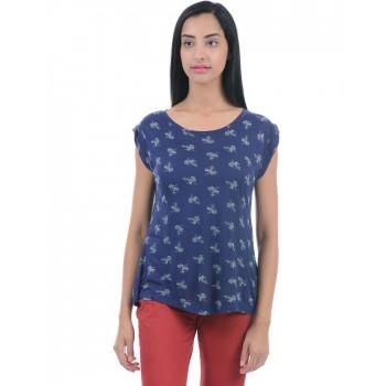 Pepe Jeans Women Casual Wear Navy Blue Top