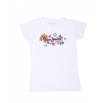Pepe Jeans Girls Casual Wear Graphic Print T-Shirt