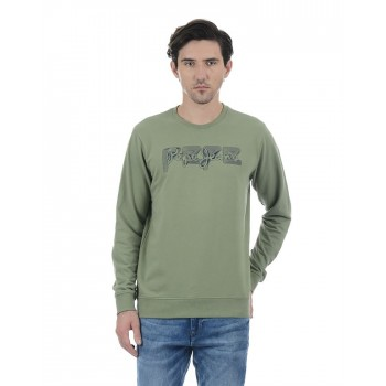 Pepe Jeans Men Graphic Print Casual Wear Pullover