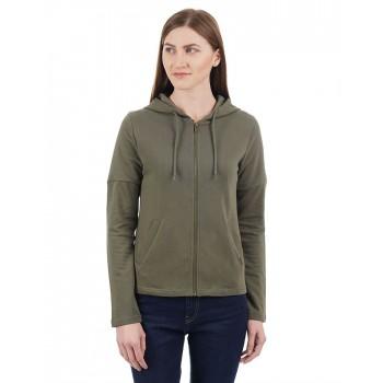 Pepe Jeans Women Solid Hoodie Sweatshirt