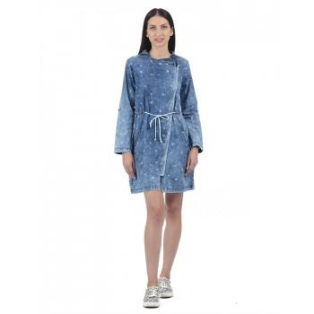 Pepe Jeans Women Geometric Hoodie Dress