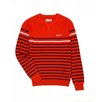 Pepe Jeans Red Casual Wear Sweater