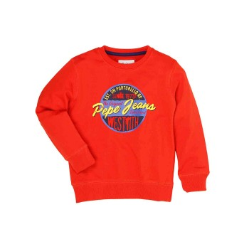 Pepe Jeans Red Casual Wear Sweatshirt