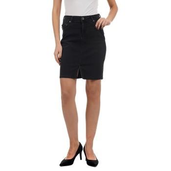 Pepe Jeans Women Casual Wear Black Pencil Skirt