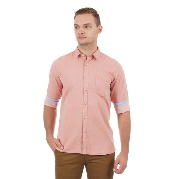 Pepe Jeans Men Solid Casual Wear Shirt