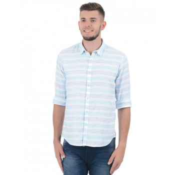Pepe Jeans Men Striped Casual Wear Shirt