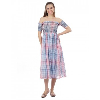 Pepe Jeans Women Checked Dress