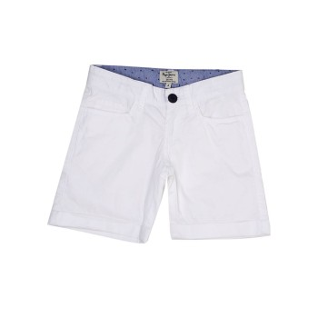 Pepe Kids Casual Wear White Shorts For Boys