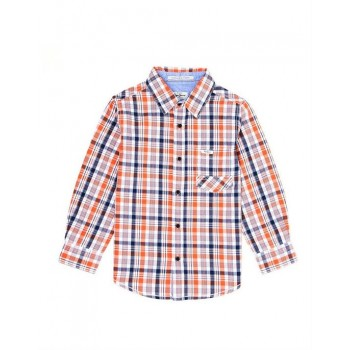 Pepe Kids Casual Wear Orange Shirt For Boys