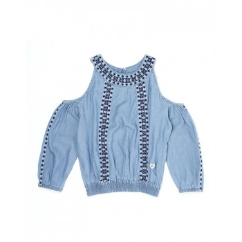 Pepe Kids Casual Wear Blue Top For Girls