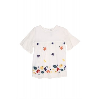 Pepe Kids Casual Wear White Top For Girls