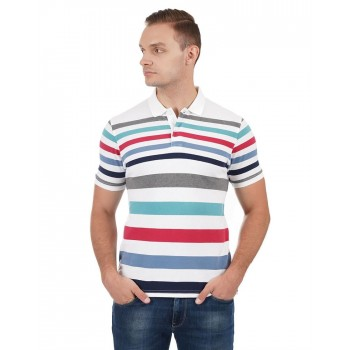 Pepe Jeans Men Striped Casual Wear T-Shirt