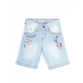 Pepe Kids Casual Wear Blue Shorts For Boys