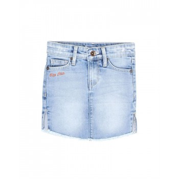 Pepe Jeans Girls Solid Blue Skirt
