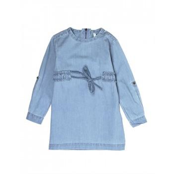 Pepe Kids Girls Blue Casual Wear Dress