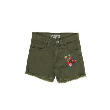 Pepe Kids Girls Green Casual Wear Shorts