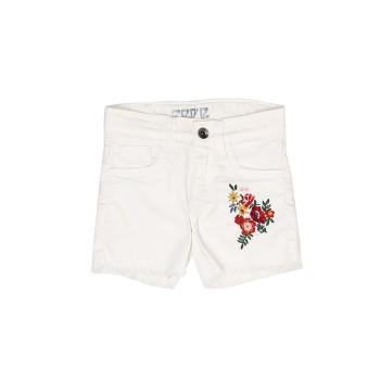 Pepe Kids Girls White Casual Wear Shorts