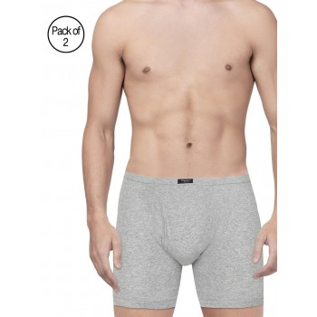 Pepe Jeans London Men Solid Grey Trunk Pack Of 2