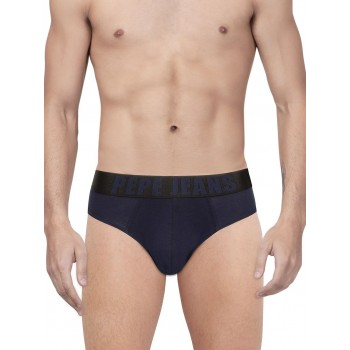 Pepe Jeans London Men Solid Navy Brife Pack Of 1