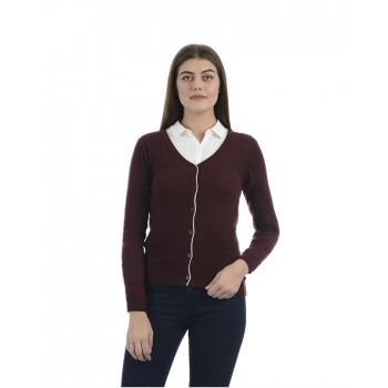 Porto Bello Women Casual Winter Wear Cardigan