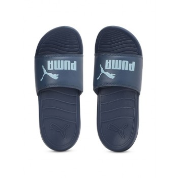 Puma Unisex Blue Casual Wear Slippers for Kids