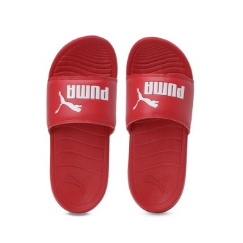 Puma Unisex Red Casual Wear Slippers for Kids