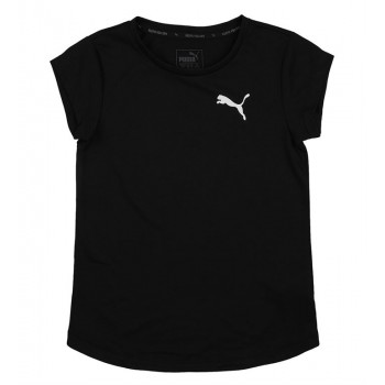 Puma Kids Black Casual Wear T-Shirt