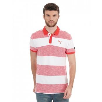 Puma Men Casual Wear Striped T-Shirt