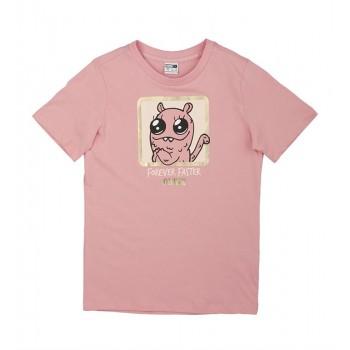 Puma Kids Pink Casual Wear T-Shirt