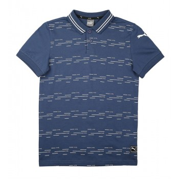 Puma Kids Blue Casual Wear T-Shirt