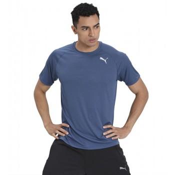 Puma Men Sports Wear Blue T-Shirt