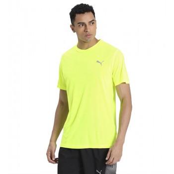 Puma Men Sports Wear Yellow T-Shirt