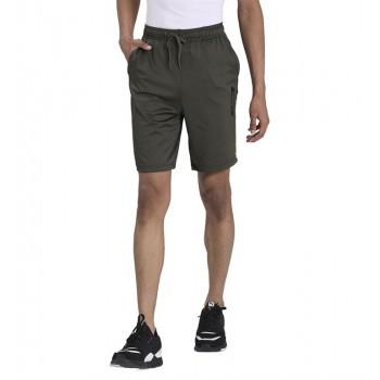 Puma Men Casual Wear Olive Shorts