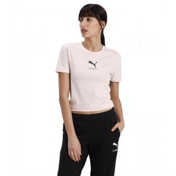 Puma Women Casual Wear Pink T-Shirt