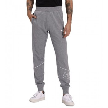 Puma Men Casual Wear Grey Track Pant