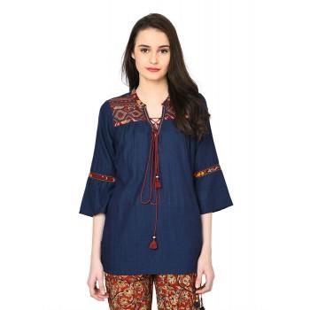 Rangriti Women Casual Wear Printed Top