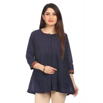 Rangriti Women Casual Wear Solid Tunic