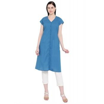 Rangriti Women Casual Wear Solid Kurta