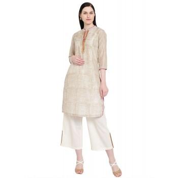 Rangriti Women Casual Wear Textured Kurta